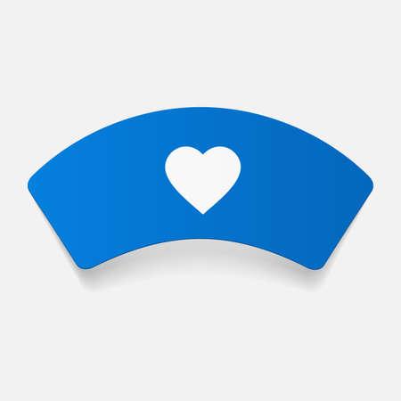 nurse cap: paper sticker: Nurse cap. Isolated illustration icon