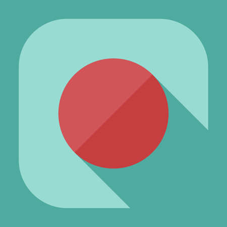 eject: Flat modern design with shadow icon player