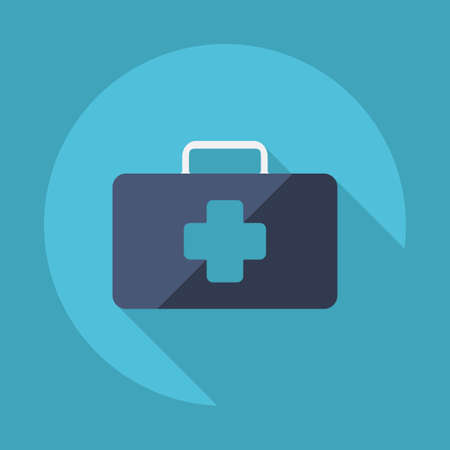 medicine chest: Flat modern design with shadow vector icons: medicine chest
