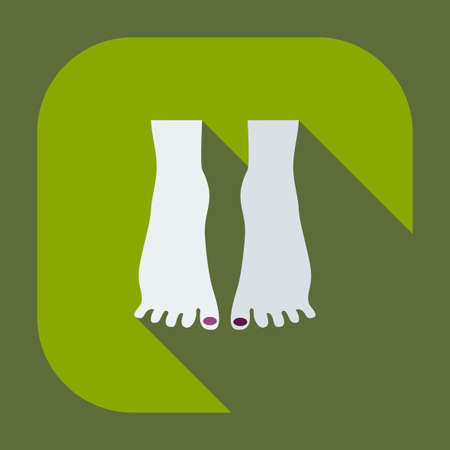 cuticle: Flat modern design with shadow icons pedicure