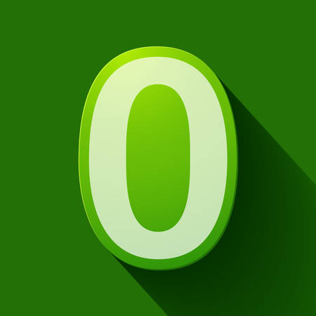 number zero: Volume icons number: zero. Colorful modern Style.
