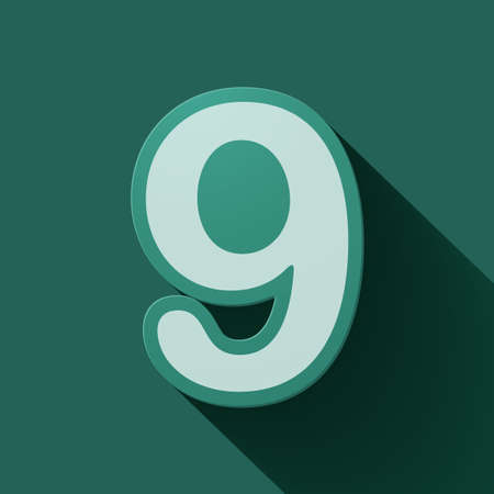 number nine: Volume icons number: nine. Colorful modern Style.