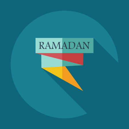 usability: Flat modern design with shadow icons ramadan