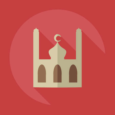 usability: Flat modern design with shadow icons mosque