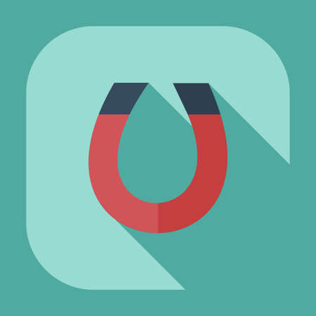 dipole: Flat modern design with shadow icons magnet