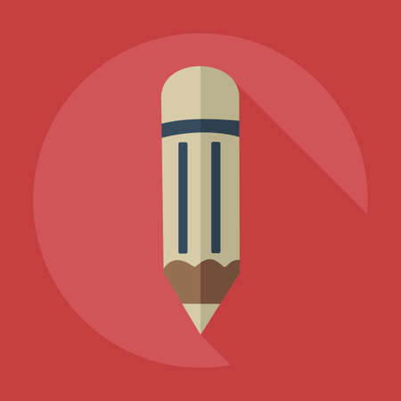 tip style design: Flat modern design with shadow icons pencil
