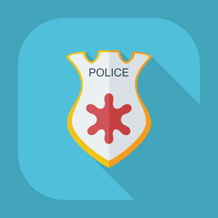 sergeant: Flat modern design with shadow icons certificate icon sheriff Illustration