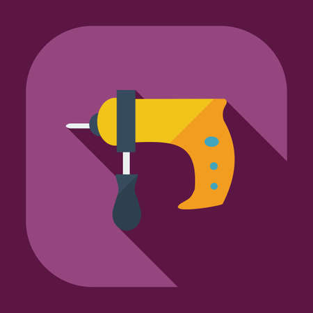 auger: Flat modern design with shadow icons drill