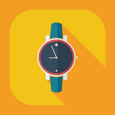 wrist: Flat modern design with shadow icons Wrist Watch