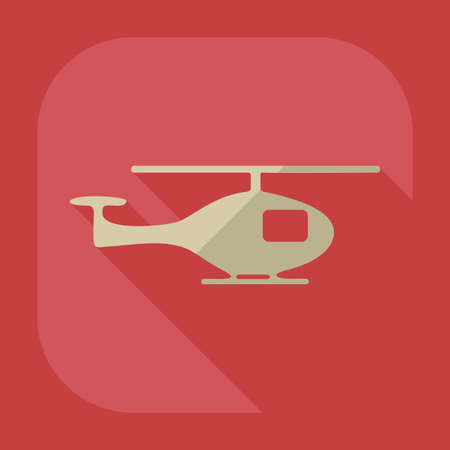 sky background: Flat modern design with shadow icon helicopter