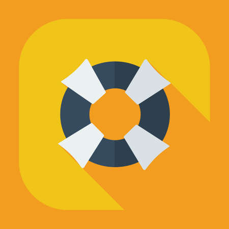 life preserver: Flat modern design with shadow icons life preserver Illustration