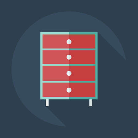 commode: Flat modern design with shadow icons commode Illustration