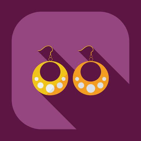 bijouterie: Flat modern design with shadow icons bijouterie
