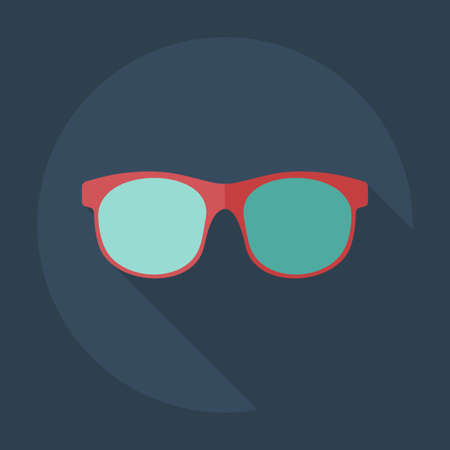 corrective lenses: Flat modern design with shadow icons glasses