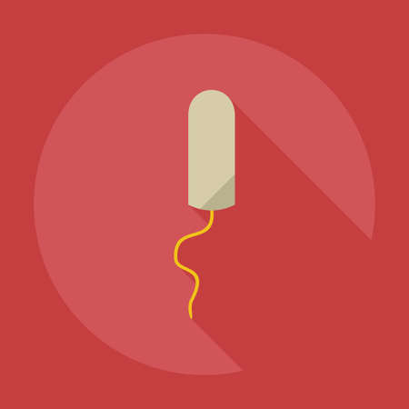 cottonwool: Flat modern design with shadow icons swab Illustration