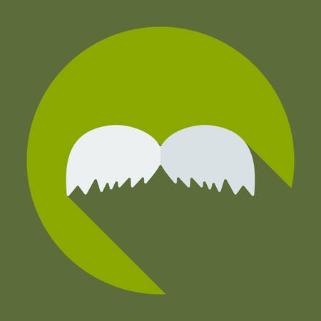 handlebar: Flat modern design with shadow icon mustache