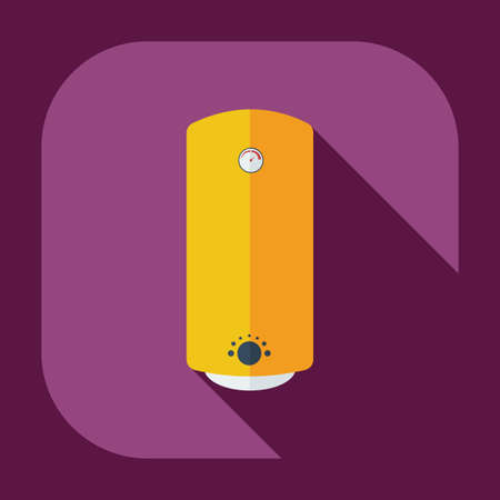 thermodynamic: Flat modern design with shadow icons boiler