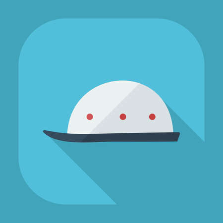 hard hat: Flat modern design with shadow icons hard hat