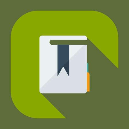 edicto: Diseño moderno plana con la sombra de los iconos de carpetas decreto