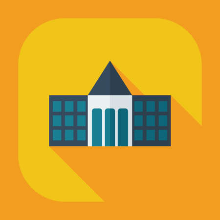 governmental: Flat modern design with shadow icons court Illustration