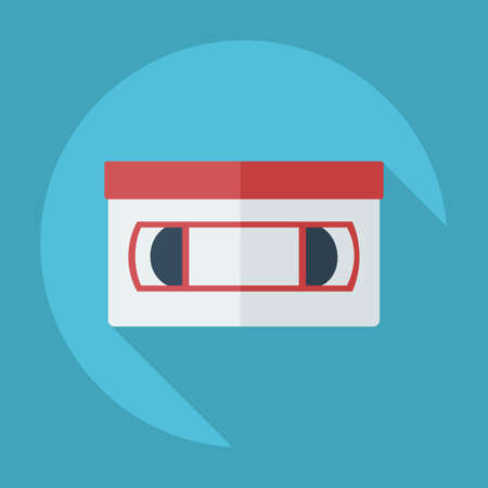 vcr: Flat modern design with shadow icon tape