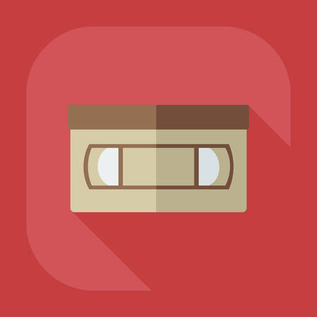 videotape: Flat modern design with shadow icon tape