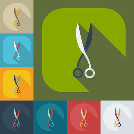 clip art cost: Flat modern design with shadow icons scissors