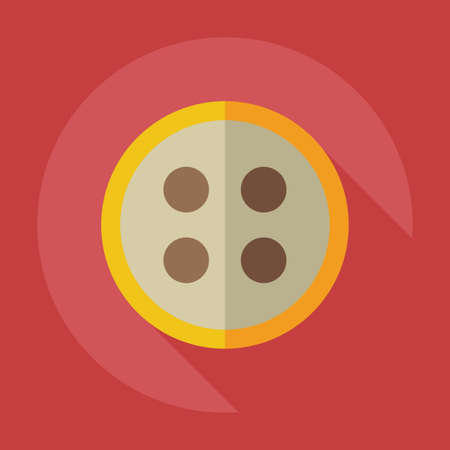 needle cushion: Flat modern design with shadow icons button