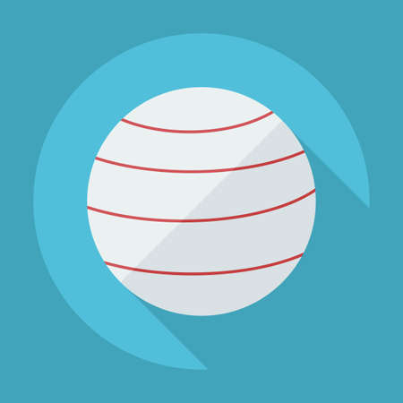 kickball: Flat modern design with shadow icon Ball for fitness