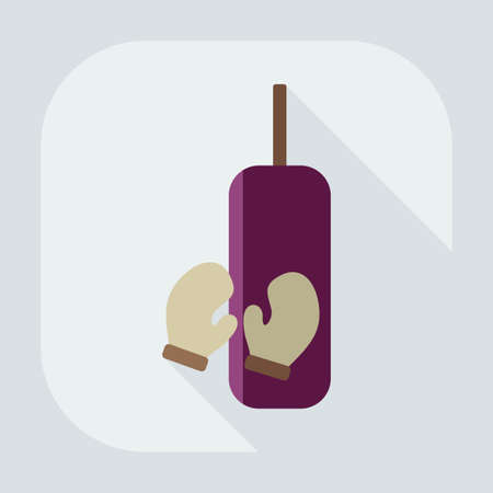 punching: Flat modern design with shadow icon punching bag Illustration