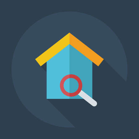 nesting: Flat modern design with shadow icons nesting box Illustration