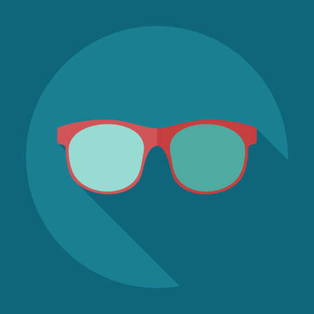 corrective: Flat modern design with shadow icons glasses