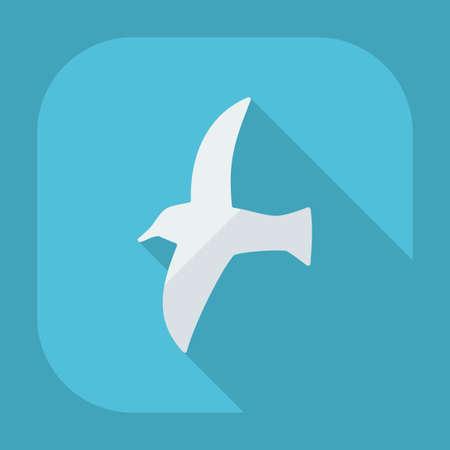 gaviota: diseño moderno plana con los iconos de sombra gaviota Vectores