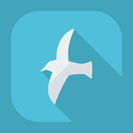 seagull: Flat modern design with shadow icons seagull Illustration