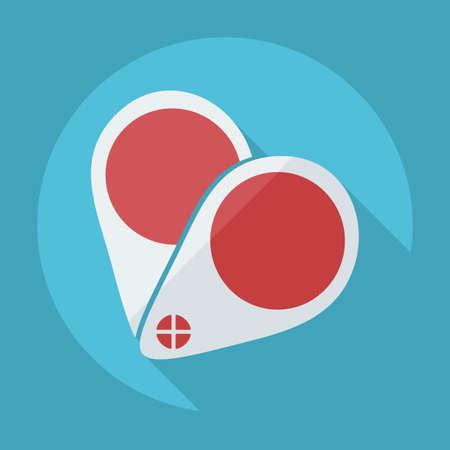 eye icon: Flat modern design with shadow icon optics