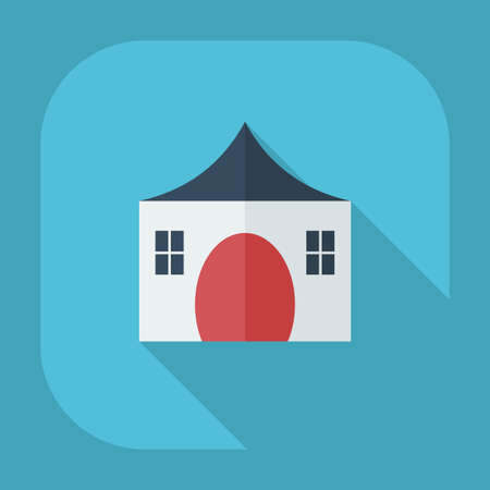 mobile marketing: Flat modern design with shadow icons country house