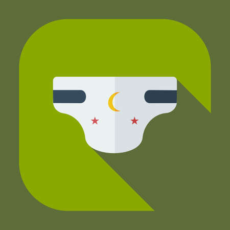 diapers: Flat modern design with shadow icons diapers