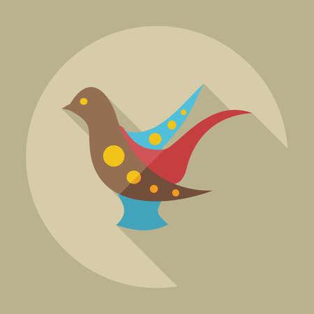 ukrainian: Flat modern design with shadow icons ukrainian