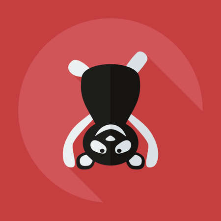 brute: Flat modern design with shadow icons panda athlete Illustration