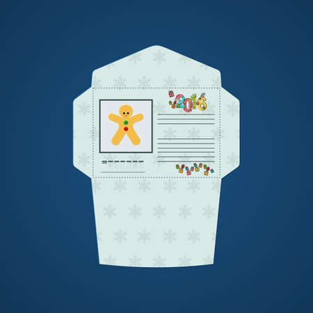 fill: Christmas card for greetings with forms to fill Illustration