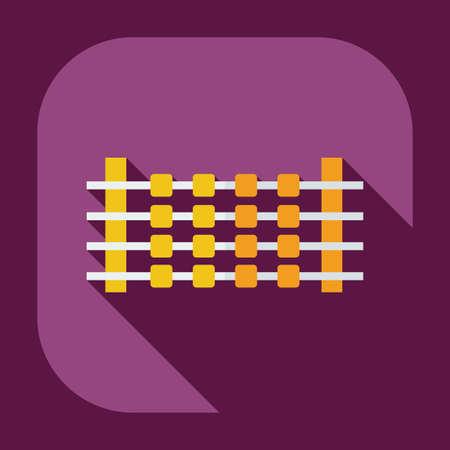 shashlik: Flat modern design with shadow icons shashlik