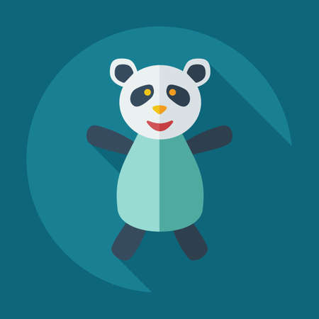 pageant: Flat modern design with shadow icons panda athlete Illustration