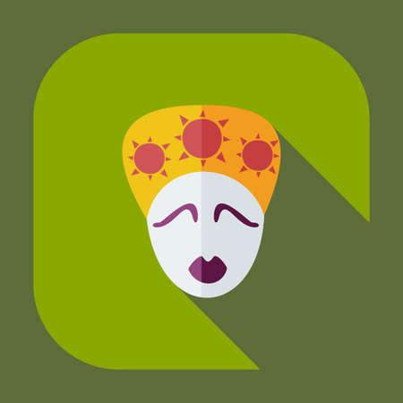 Flat modern design with shadow icons australian woman