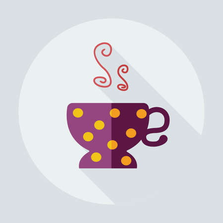 contemporary taste: Flat modern design with shadow icons cup Illustration