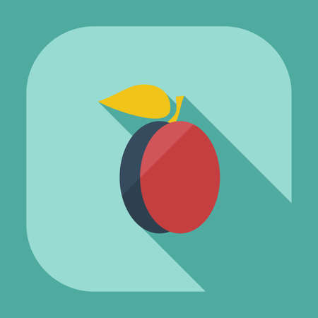 greengrocer: Flat modern design with shadow icons peach