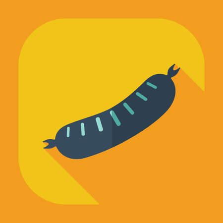 sausages: Flat modern design with shadow icons sausages