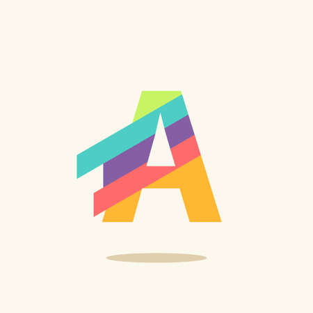 Letter A logo icon design template elements