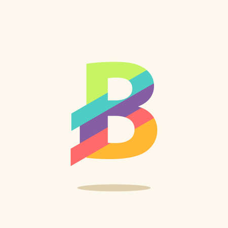 Letter B  logo icon design template elements  イラスト・ベクター素材