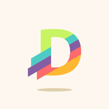 design elements: Letter D logo icon design template elements