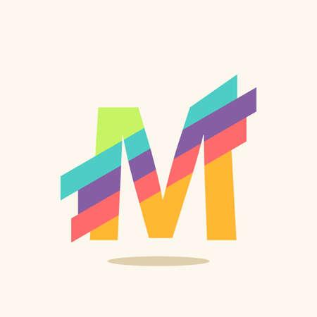 Lettre M icônes, logos éléments de modèles de conception